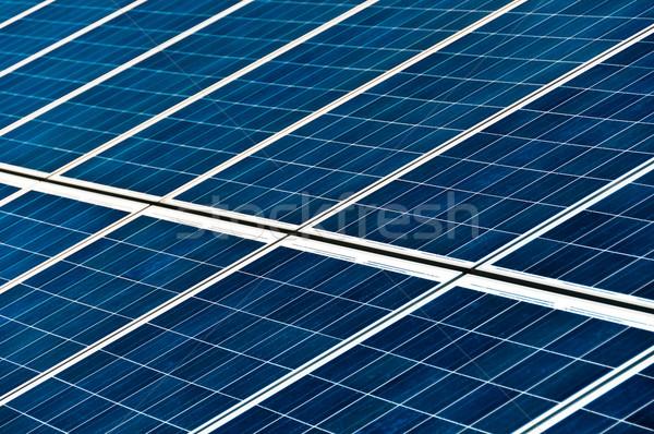 Painéis solares grande fotovoltaica parque sol Foto stock © franky242