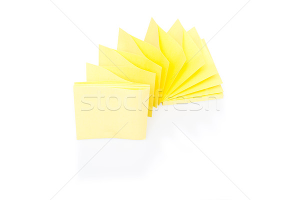 Blank yellow sticky note on block Stock photo © franky242