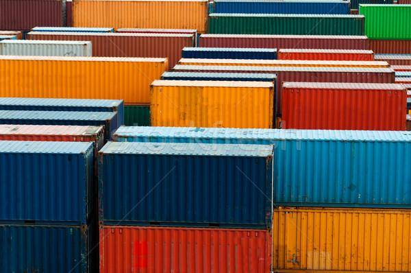 Colorido pronto expedição negócio metal azul Foto stock © franky242