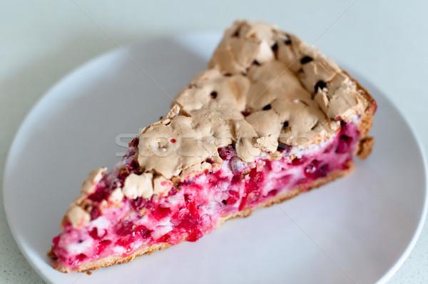 Grosella tarta placa brillante alimentos jardín Foto stock © franky242