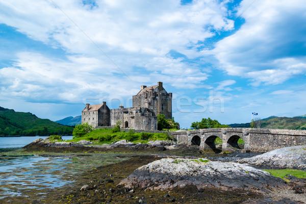 Célèbre château Écosse ciel eau Photo stock © franky242