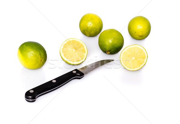 Faca verde fresco inteiro frutas dois Foto stock © franky242