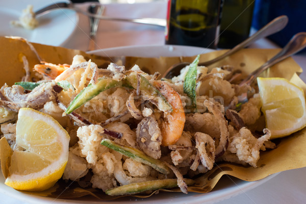 Fried Seafood Platter Stock photo © franky242