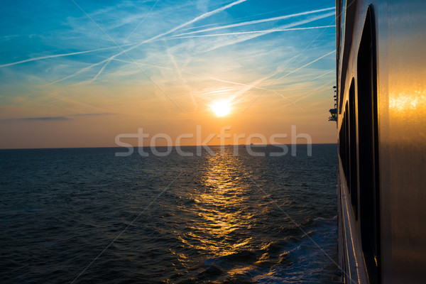 Sunset from a luxury cruise liner Stock photo © franky242