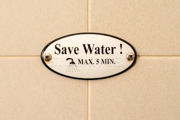 Guardar agua cuadros ducha blanco Foto stock © franky242