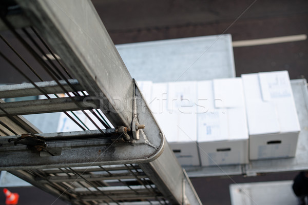 Casa em movimento caixas elevador tem trabalhar Foto stock © franky242