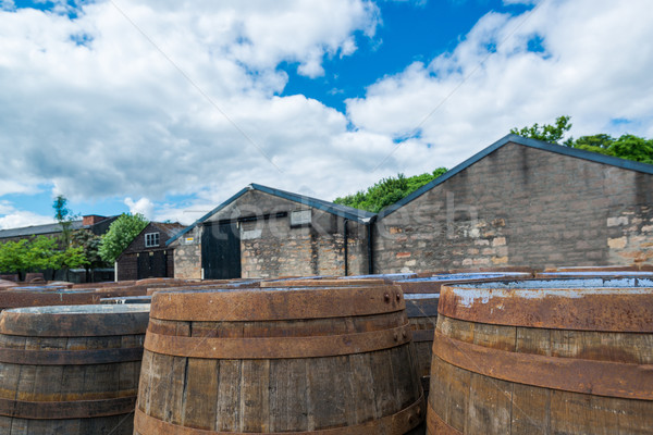 Whisky barrels at a Scottish distillery Stock photo © franky242