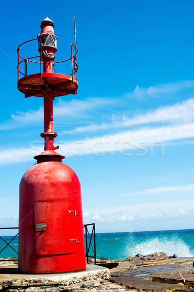Small red lighthouse Stock photo © franky242