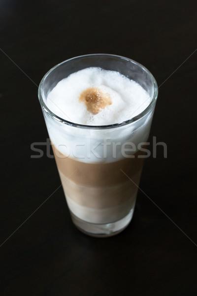 Vidro clássico café leite espuma Foto stock © franky242