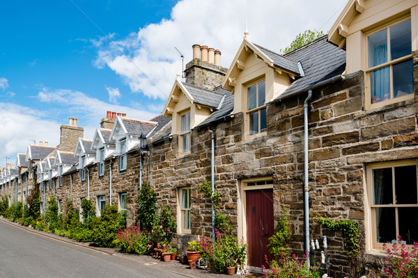 Traditional Scottish Stone Houses Stock photo © franky242