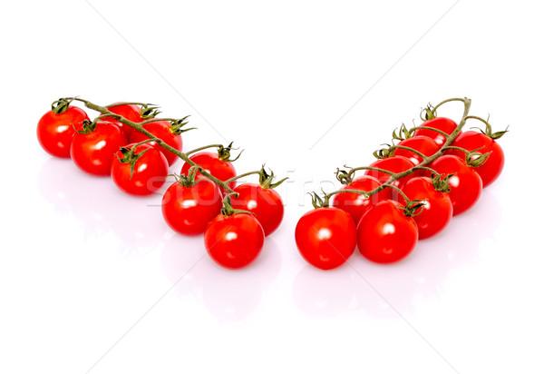 Fresco maduro tomates cereja branco sombra reflexão Foto stock © franky242