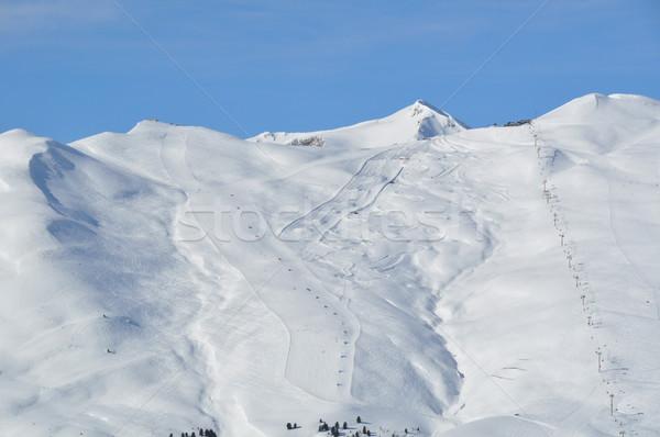 急 スキー 山 表示 2 ショット ストックフォト © franky242