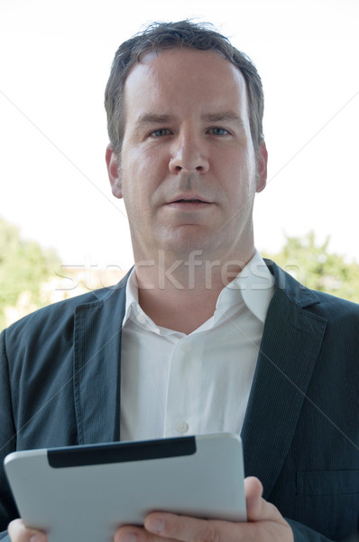 Salesman with digital tablet PC Stock photo © franky242