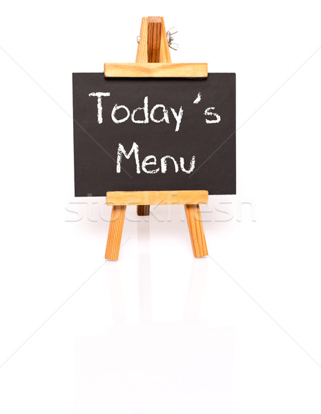 Todays Menu. Blackboard with text and easel. Stock photo © franky242