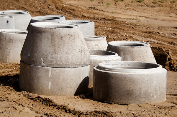 Concrete Drainage Pipes Stock photo © franky242