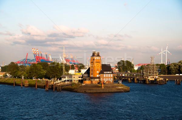 Hamburgo puerto piloto casa Alemania oficina Foto stock © franky242