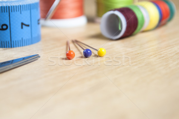 Stock photo: The Sewing Table - Closeup