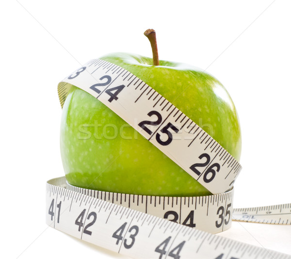 Stock photo: Apple with Measuring Tape