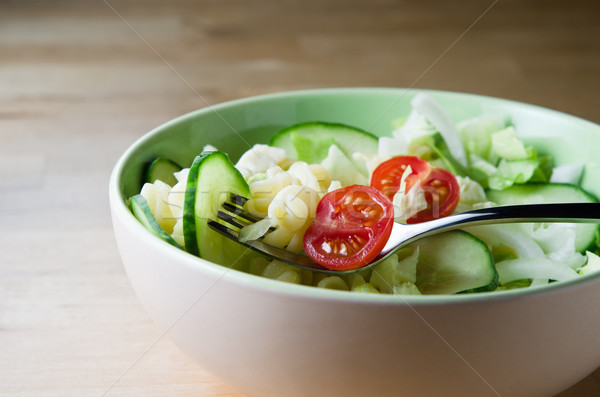 Pasta Salad in Bowl Stock photo © frannyanne