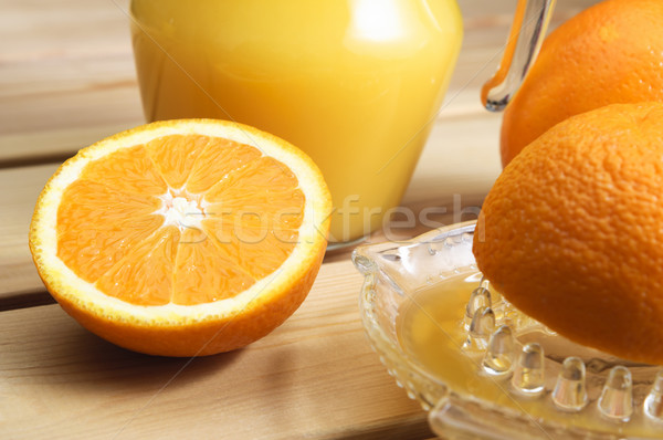 Freshly Squeezed Orange Juice Stock photo © frannyanne