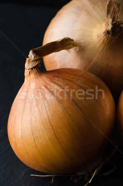 Whole Unpeeled Onion Stock photo © frannyanne