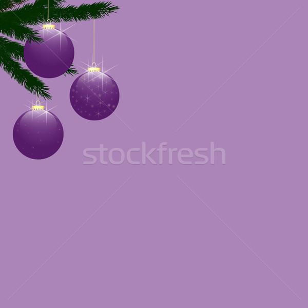 Christmas Tree Baubles on Purple Stock photo © frannyanne