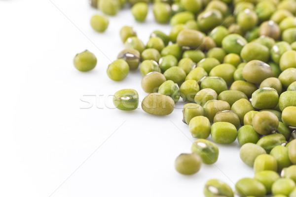 Mung Beans Closeup on White Stock photo © frannyanne