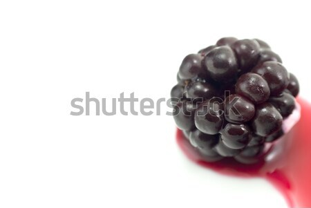 Blackberry in Natural Juice - Isolated Stock photo © frannyanne