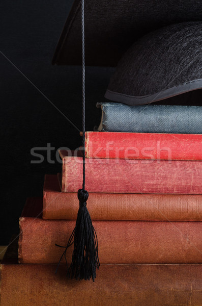 Book Steps Leading to Graduation Cap Stock photo © frannyanne