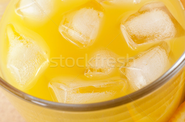 Close up of Orange Juice with Ice Cubes Stock photo © frannyanne