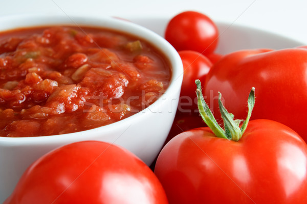 Salsa Bowl with Tomatoes Stock photo © frannyanne