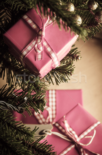 Christmas Gifts in Pink Wrapping Stock photo © frannyanne