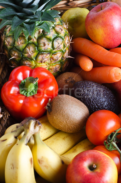 Fruit and Vegetable Selection Stock photo © frannyanne