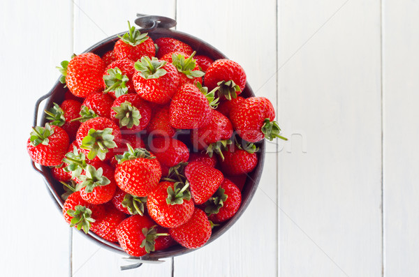 Strawberry Harvest Bucket Stock photo © frannyanne