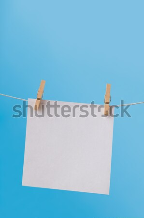 Single Note Paper on Washing Line against Blue Sky Stock photo © frannyanne