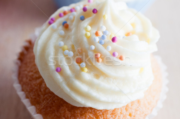 Decorated Cupcake with Sprinkles Stock photo © frannyanne