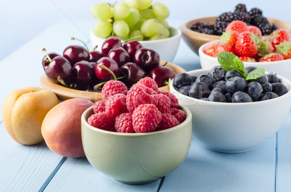 Stock photo: Fruit Harvest Selection in Bowls