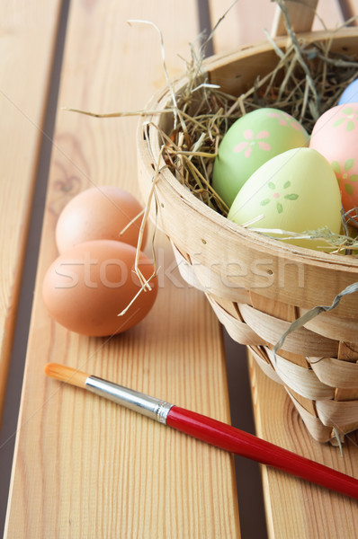 Stock photo: Painted Easter Eggs - Vertical