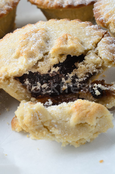 Mince Pie Broken Open to Expose Filling Stock photo © frannyanne