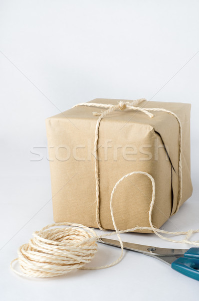 Brown Paper Package Tied with String Stock photo © frannyanne