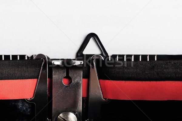 Retro maszyny do pisania puste papieru vintage 1960 Zdjęcia stock © frannyanne
