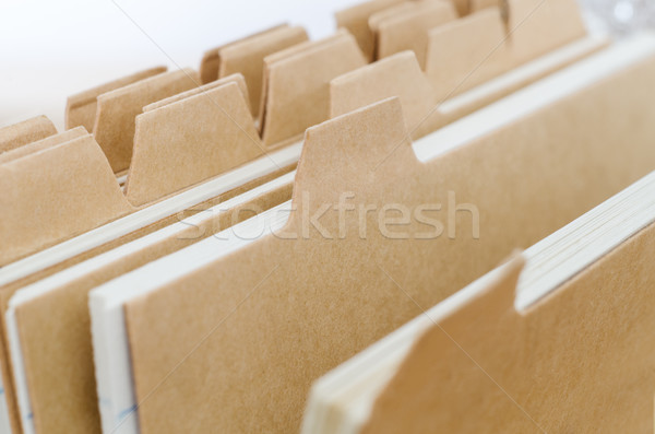 Index Cards with Blank Dividers Stock photo © frannyanne