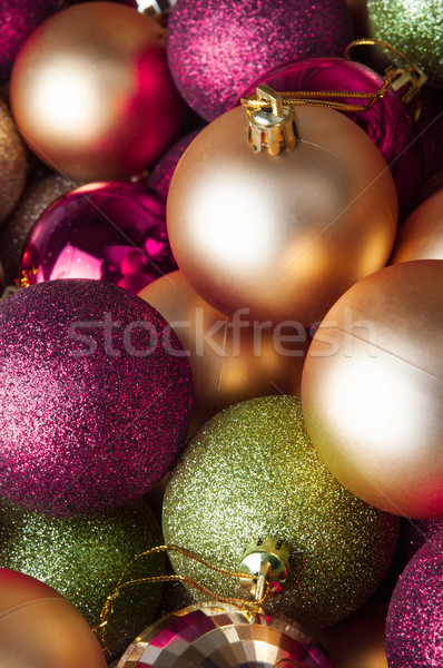 Christmas Baubles - Mixed Collection Stock photo © frannyanne