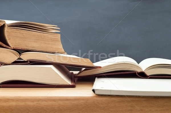 Study Books Opened on Table Stock photo © frannyanne