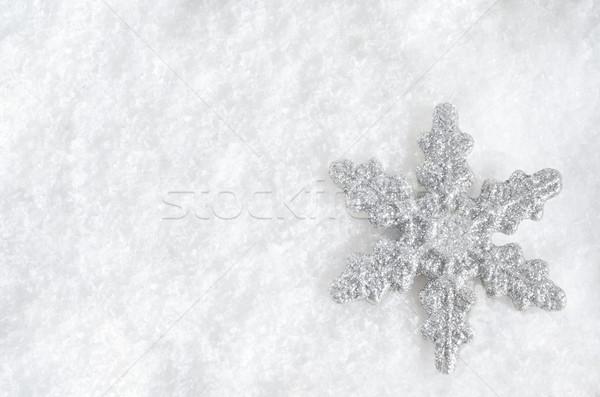 Christmas Snowflake on Snow Stock photo © frannyanne