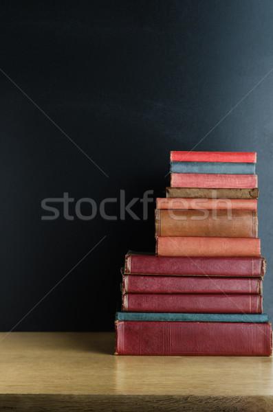 старые книгах столе используемый Сток-фото © frannyanne