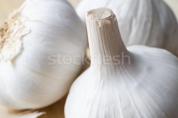 Trio of Garlic Bulbs Stock photo © frannyanne