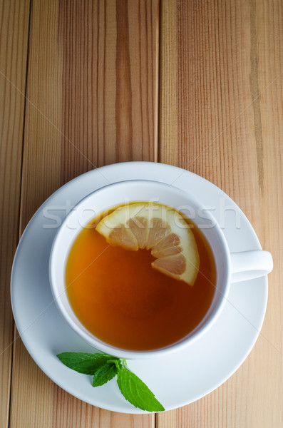 Lemon Tea with Mint Leaves Stock photo © frannyanne