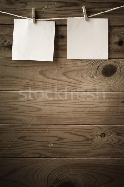 Promemoria note string legno due Foto d'archivio © frannyanne