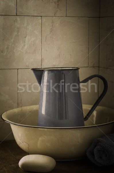 Vintage Wash Basin and Jug Stock photo © frannyanne
